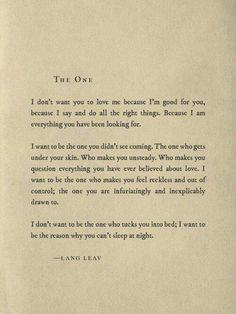 The one- Lang Leav