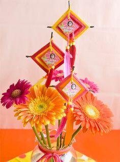 God's eye bouquet - Centerpiece or deco idea. X