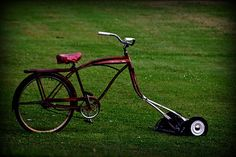 The bike mower - LOVE it!