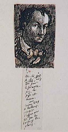 self-portrait of Baudelaire - Musée d'Orsay