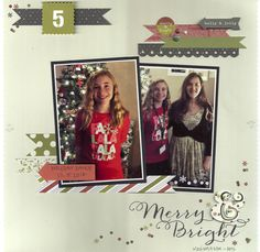 Merry & Bright - Scrapbook.com - Made with Simple Stories DIY Christmas collection.