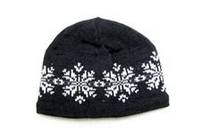 Knit Wool Beanie in Snowflake Pattern    Our Santiago Pattern is one of our most popular. A timeless pattern that will never go out of style, we