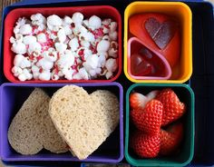 Lunchbox Surprises to Pack for Valentine's Day Send your little sweetheart to school with a sentimental surprise. We've got ideas -- from free printables to fun lunch accessories -- that you can use long after the holiday is over. Bento Box Lunch, Lunch Snacks, Lunch Boxes, Bento Lunchbox, Box Lunches, Little Muffins, Cute Snacks, Healthy School Lunches, Think Food