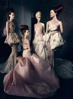 Irina, Kayley, Esther, Magdalena, Tess, Kat & Irene by Paolo Roversi for Vogue Italia September 2013