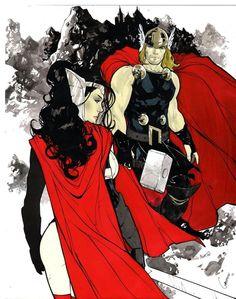 Thor & Lady Sif by Gardenio Lima