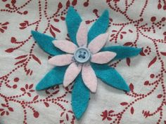 Flower made from old left over felt