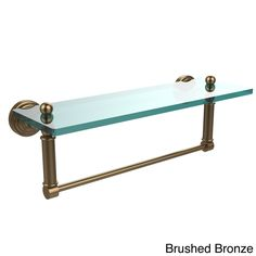 Allied Waverly Place Collection Glass Shelf with Towel Bar