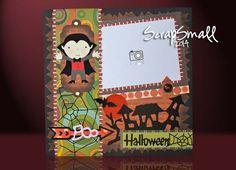 Halloween Porta foto bambino se 24x24cm