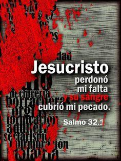 """""""...Su sangre cubrió mi pecado"""" Sal. 32:1 #rpsp"""