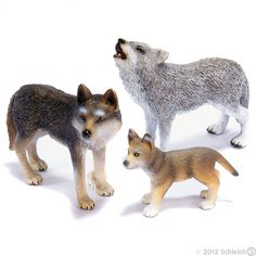 Wolf Pack from Schleich    $13.00 Pet Toys, Kids Toys, Wolf, Miniature Figurines, Plastic Animals, My Little Pony, Animals And Pets, Husky, Pikachu