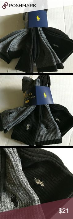 POLO RALPH LAUREN MEN S SOCKS NWOT For men s shoe size One pair was tried  on briefly 88d95ac4f1f7