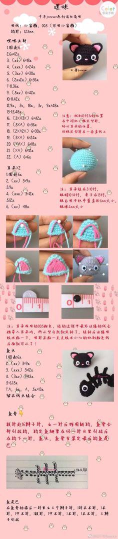 微博 Kawaii Crochet, Crochet Geek, Crochet Patterns Amigurumi, Crochet Dolls, Crochet Stars, Love Crochet, Diy Crochet, Crochet Baby, Crochet Parrot