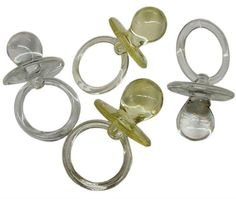 12 Pacifiers for party favor and arts and by CelebrationMarket