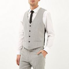 Grey suit waistcoat - waistcoats - suits - men £40  riverisland  RImenswear    a1388351672