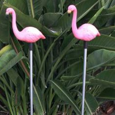 Flamingo Garden Stake Solar Light (Set of 2) Oh I NEED these for my Alice in Wonderland themed garden.  #aliceinwonderland #aliceinwonderlandgarden