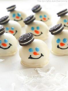 Melted Snowmen Oreo Balls