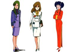 ... des diverses séries de Macross, par Shoji Kawamori et autres
