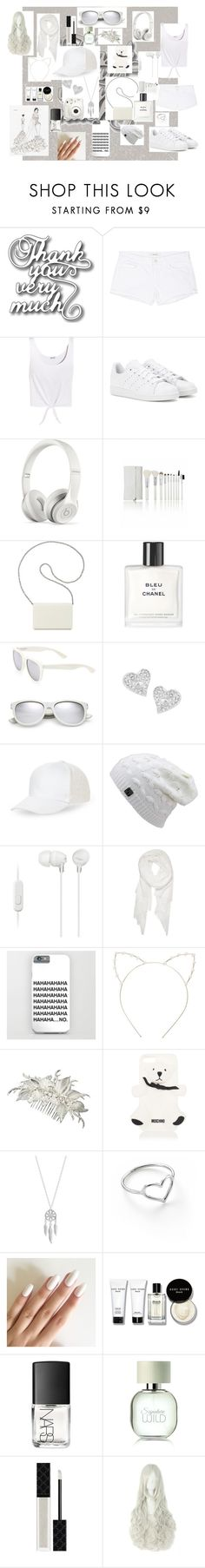 """All white"" by passarinha ❤ liked on Polyvore featuring J Brand, Splendid, adidas, Beats by Dr. Dre, Nine West, Chanel, Yves Saint Laurent, Vivienne Westwood, BCBGeneration and Sony"