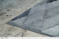 Kyle Bunting : Kashmir : Patchwork Cowhide Leather Rug Design
