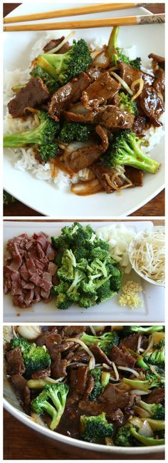 Chinese Beef and Broccoli.  This stir fry is easy, delicious and ready in 15 minutes! #beef #chinese #gf daringgourmet.com