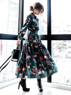 One piece dress Looks- Akane?One piece dress Looks - : Akane?One piece dress Looks- Akane?One piece dress Looks - Modest Outfits, Modest Fashion, Hijab Fashion, Korean Fashion, Dress Outfits, Casual Dresses, Girl Fashion, Casual Outfits, Fashion Dresses