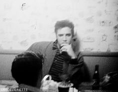 Elvis at Sam Phillips's house on the Easter of 1957.