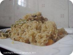 Spicy Mushroom Pulav / Pilaf