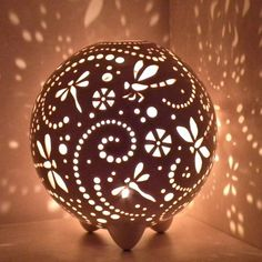 Sphere Candle Lantern For Home Decor, Wedding Table Centerpiece Ideas, Pottery Anniversary Gifts, Tealight Holder For Christmas Gift Wedding Table Centerpieces, Decor Wedding, Centerpiece Ideas, Lantern Wedding, Table Wedding, Clay Candle Holders, Butterfly Ornaments, Ceramic Lantern, Gourd Lamp