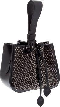 Alaia Black Leather Studded Wristlet Bag...Vintage...