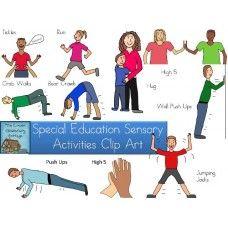 Sensory Activities Clip Art