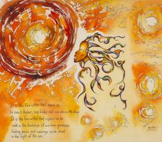 Empowering Poetic Art created to inspire and uplift. This piece is about having the strength to stand in the sun. A creative batik art original. #empoweringart, #batik, #powerful, #inspirational.