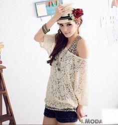 Wholesale Sexy Fit Leopard Lace T-Shirt