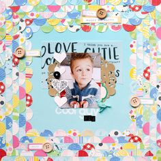 COOL GUY #layout by Paige Evans #scrapbooking #kids