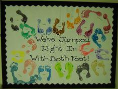 beach theme back to school bulletin board