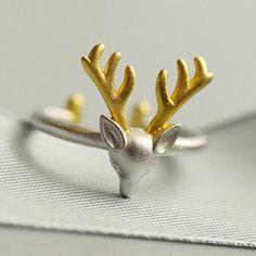 elk ring| $3.30  mori kei hipster lolita deer elk fachin ring jewelry accessories under10 under20 under30 rosegal free shipping
