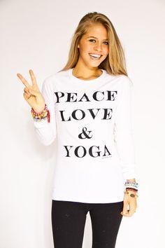 peace, love & yoga | Fay with Love