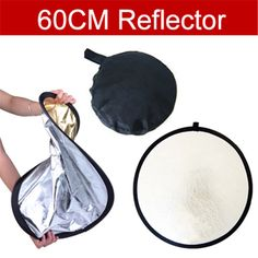 Track Number + 60cm Photography Studio Reflector  gold and silver double-sided soft board camera photography reflectors //Price: $10.06      #sale