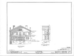 Bulloch Hall, Roswell, GA.  Historic American Buildings Survey drawings, sheet 3 of 3, 1934.
