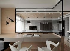 Interior surround window // home office Home Office Design, House Design, Home Study Rooms, Study Room Design, Study Space, Office Walls, Office Art, Office Ideas, 3d Models