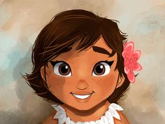 Baby Moana colored by thealecaste on DeviantArt