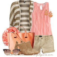 """""""Shorts & tank top"""" by doradabrowska on Polyvore"""