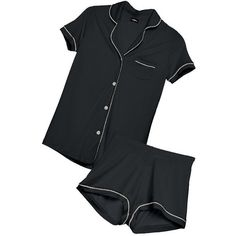 Cosabella AMORE SHORTSLEEVE & BOXER PJ SET (£80) ❤ liked on Polyvore featuring intimates, sleepwear, pajamas, button down pajamas, cosabella sleepwear, short sleeve pajama set, button up pajamas e cosabella pajamas
