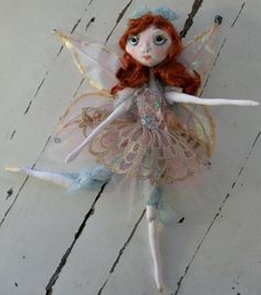 TEA FAIRY soft jointed fairy doll by Kaeriefaerie52 on Etsy, $45.00