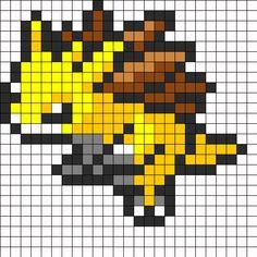 Sandslash Pokemon Sprite Perler Bead Pattern