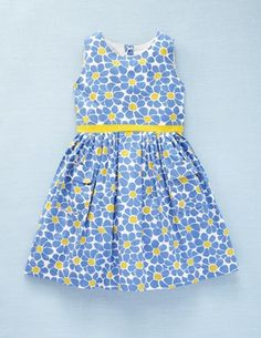 Vintage Dress via Mini Boden (blue & yellow)
