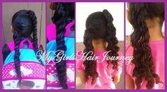 2 ponytails ♥ 3 strand twists