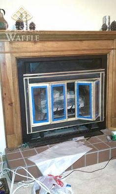 Painting a brass fireplace insert
