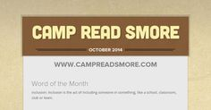 Camp Read Smore October 2014 October 2014, Acting, Classroom, Education, Reading, Words, School, Class Room, Reading Books