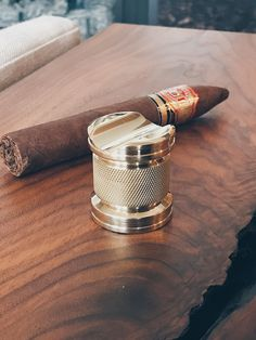 Machined, knurled, and polished in USA. Custom luxury smoking essentials and gifts for cigar lovers Cigar Accessories, Smoking Accessories, Cigar Holder, League Of Extraordinary Gentlemen, Like A Sir, Premium Cigars, Abercrombie Men, Cigar Humidor, Lifestyle