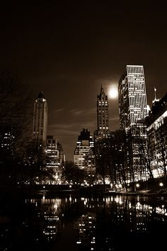Central Park at Night, #NYC